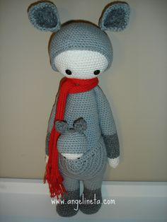 Tejido con algodón. Crochet Hats, Teddy Bear, Toys, Animals, Kangaroos, Crochet Dolls, Tejidos, Knitting Hats, Activity Toys