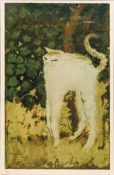 amare-habeo:  Pierre Bonnard (1867-1947) The Cat (Le chat)