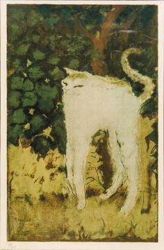amare-habeo: Pierre Bonnard (1867-1947) The Cat (Le chat), N/D