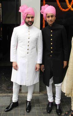 Bollywood Actress Soha Ali Khan's Wedding Pics Sherwani For Men Wedding, Wedding Dresses Men Indian, Sherwani Groom, Mens Sherwani, Wedding Dress Men, Desi Wedding, Wedding Pics, Wedding Attire, Wedding Bands