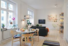 colorful Scandinavian dining table Decorating with a Modern Scandinavian Influence