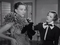 """""""Roberta"""" A musical with Irene Dunne, Fred Astaire and Ginger Rogers. Costumes by Bernard Newman. Old Hollywood, Golden Age Of Hollywood, Classic Hollywood, 1930s Fashion, Vintage Fashion, Vintage Style, Irene Dunne, Fred And Ginger, Hollywood Costume"""