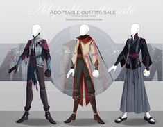 [CLOSED-Auction] Adoptable outfit by Eggperon on DeviantArt Source by agerassimoff ideas male Cosplay Outfits, Anime Outfits, Cool Outfits, Casual Outfits, Manga, Fashion Artwork, Dungeons And Dragons Homebrew, Medieval Costume, Fantasy Male