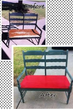 """""""Stella"""" got her groove back! Chalk paint bench revival furniture refurb by jacklyn"""