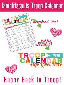 Troop snack calendar. I'd like to see a Kaper chart