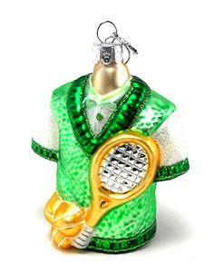 Glassworks Tennis Gear Christmas Ornament