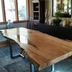 Love this from CustomMade, Dining room table