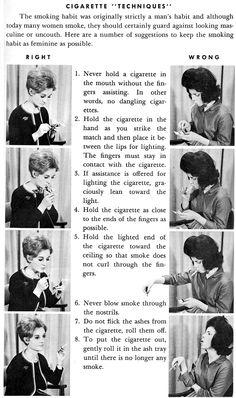 Techniques for femininity in cigarette smoking