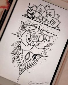 - tattoo -Tatoos - tattoo - 55 einfache kleine Blumen Tattoos Zeichnung Tattoos Ideen für Frauen in dieser Saison Thes … tattoo drawing - Drawing Tips Фотографии Art by Asika Rose Tattoos, Body Art Tattoos, Small Tattoos, Sleeve Tattoos, Tatoos, Tiny Tattoo, Tattoo Hip, Tattoo Moon, Cat Tattoo
