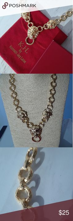 Vintage Kenneth Lane necklace Beautiful vintage Kenneth Jay Lane lion necklace with original velvet pouch and box. Excellent shape. The most distinguished women worm this design back in the day! Let's bring back that elegant beauty of days gone by! Kenneth Jay Lane Accessories