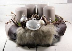 Advent wreath – Advent wreath, Christmas decoration, candles, Christmas, – a designer piece by Dekowerk on DaWanda Christmas Advent Wreath, Christmas Balls, Christmas Lights, Christmas Time, Christmas Decorations, Xmas, Table Decorations, Wine Festival, Very Merry Christmas