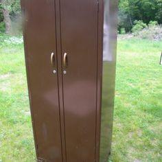 Brown Metal Storage Cabinet