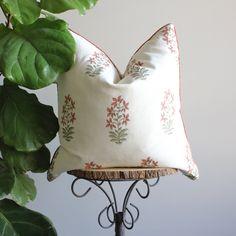 Eden Pillow Cover - 14x36 / Rust Cording