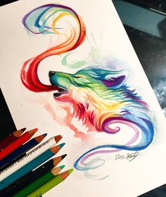 22- Small Rainbow Wolf by Lucky978.deviantart.com on @DeviantArt