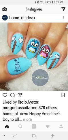 Valentine Nail Art, Happy Valentines Day, Nails On Fleek, Beauty, Happy Valentines Day Wishes, Cosmetology, Valentine Day Nails
