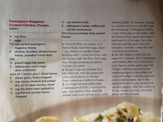 Parmigiano Reggiano crusted chicken piccata from Rachael Ray Mag