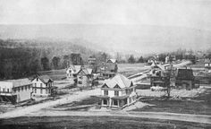 Early view of Westmont, just outside of Johnstown in 1894. The building under construction on the left is the Tioga Street Market.