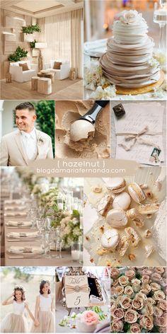 Decoração de Casamento : Paleta de Cores Hazelnut | Wedding Color Palette Hazelnut | Pantone Colors 2017