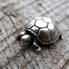 Adorable Silver Turtle Pendant or Charm by diggersgoldjewelry, $28.00