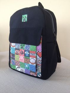 Minecraft Fabric Messenger Bag Full Size, School Bag, Book Bag ...