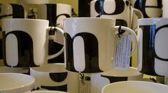 typographic mugs