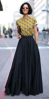 Gorgeous-Long-Skirt-Outfits-For-Working-Women skirt lange röcke, mode, mode Black Skirt Outfits, Maxi Skirt Outfits, Dress Skirt, Work Outfits, Full Skirt Outfit, Long Skirt Outfits For Summer, Skirt Pleated, Work Dresses, Dress Summer