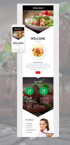 Cafe and Restaurant Responsive Newsletter Template #56079