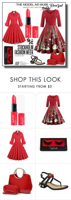 """""""Rosegal"""" by selmica11 ❤ liked on Polyvore featuring Giorgio Armani, vintage, dress, vintagedress, fashionme and rosegal"""