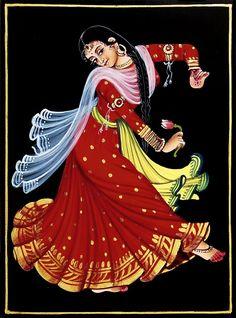 Kamal Dancer - Nirmal Painting on Wood - Folk Art Paintings (Nirmal Paintings on Wood) Dance Paintings, Indian Traditional Paintings, Dancer Painting, Illustration Art Girl, Dark Souls Art, Dance Art, Buddha Art Painting, Indian Women Painting, Painting Of Girl