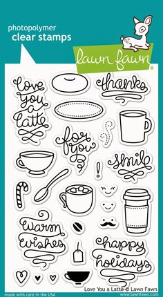 the Lawn Fawn blog: Fall/Winter 2014 Sneak Week - Love You A Latte stamp set with coordinating dies