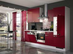 aménagement et déco de cuisine rouge