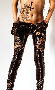 Image of TOXIC VISION black widow cigarette pants