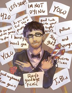 """stegolibrium:  """"If you guys wanna say any final words to Ray, any well wishes or whatever, there's 15 signs."""""""