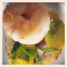 Shrimp with Mango Salsa Appetizers