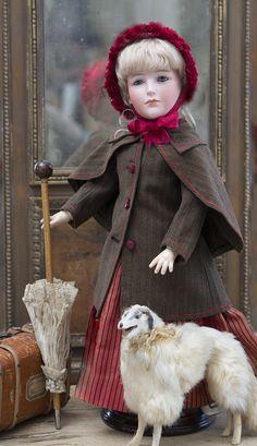 46 см Редчайшая характерная кукла -леди Bawo & Dotter, 213