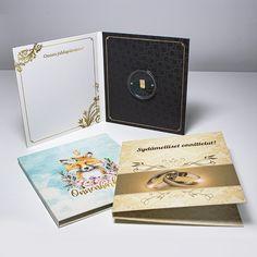 """Kaipaatko lahjavinkkiä? Onnenharkko on pysyvä ja ajaton lahja, jota vastaanottaja arvostaa vielä vuosienkin päästä. Kultaiselle tai hopeiselle harkolle on saatavilla kolme erilaista onnittelukansiota; """"Sydämelliset onnittelut"""" hää- tai kihlaparille, """"Onnenharkkoni"""" lapselle tai kaikkiin tilaisuuksiin sopiva """"Onnea juhlapäivänäsi"""". Cover, Books, Art, Art Background, Libros, Book, Kunst, Performing Arts, Book Illustrations"""