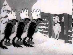 Pohádky ovčí babičky O vlčích Vánocích večerníček - YouTube