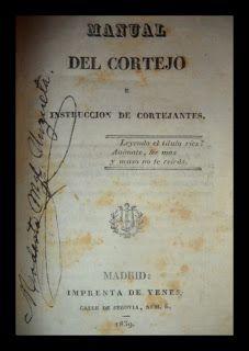 El Viejo Libro, Libreria Anticuaria, Edward Contreras Vergara, www.elviejolibro.com: Manual del Cortejo, e instruccion de cortejantes. ...