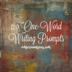 Ever get stuck with what to write about? Me too! I love using one-word writing prompts to inspire and challenge me to write more. I made a list of 120 words that you can use to help you write more. The fun part with one-word writing prompts is that everyone has a different interpretation for each one. What will you write about next?