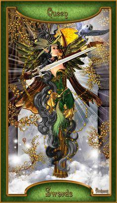 Midnight Soul Tarot Card - The Queen of Swords