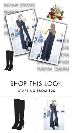 """Extravagant Sleeveless Black Wool Coat by EUGfashion"" by eug-fashion ❤ liked on Polyvore featuring EUGfashion"