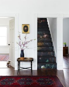 DIY floral staircase from Old Home Love