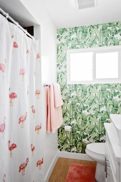 Yay I Installed Peel and Stick Temporary Wallpaper In My Bathroom! – Melodrama