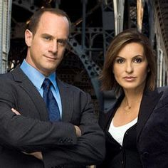 My Favorite TV show:   Law & Order SVU The female star is Olivia Benson, played by actress Mariska Hargitay. She's the daughter of actress Jayne Mansfield and body-builder, Mickey Hargitay.