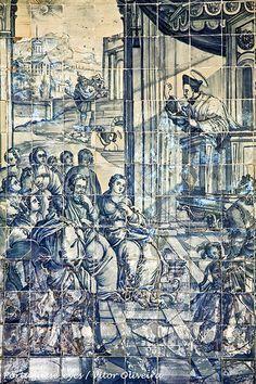 Portuguese Culture, Portuguese Tiles, Tile Art, Mosaic Tiles, Paint Tiles, Antique Tiles, Iron Work, Worldwide Travel, Blue China