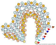 Flower Power Pattern by Holle Randy Jewelry Making Tutorials, Beading Tutorials, Peyote Patterns, Beading Patterns, Peyote Beading, Seed Bead Jewelry, Seed Beads, Beads And Wire, Jewelry Patterns