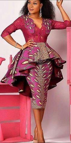 African Print/ Ankara Blouse and Skirt/ African Clothing/ Ankara Print Leyinwa Couture - Ankara Blouse and Skirt . African Fashion Ankara, Latest African Fashion Dresses, African Print Dresses, African Dresses For Women, African Print Fashion, Africa Fashion, African Attire, African Prints, African Style