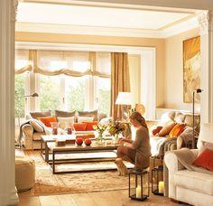 Home Living Room, Living Room Decor, Estilo Colonial, Master Room, Cozy Room, Home Decor Styles, Cozy House, Colorful Interiors, Home Interior Design