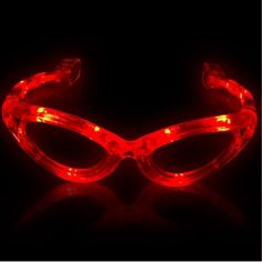 Red LED Sunglasses  Light Up Glasses  Halloween Party Dancing Rave Club ** You can get additional details at the image link.