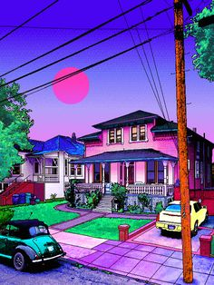 Vaporwave or Aesthetic, and why? Let me know in the comments section! Aesthetic Backgrounds, Aesthetic Wallpapers, Vaporwave Wallpaper, Vaporwave Art, Neon Aesthetic, Sense Of Place, Dream City, Psychedelic Art, 8 Bit